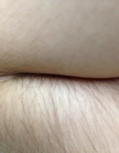 ¿culo a medio depilar o codo?